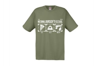 Daft Donkey Special Edition NAF 2018 'Eat, Sleep, Airsoft' T-Shirt (Olive)