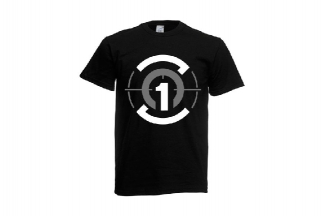 Daft Donkey T-Shirt 'Zero One Logo' (Black) - Size Small