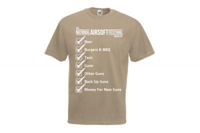 Daft Donkey Special Edition NAF 2018 'Checklist' T-Shirt (Tan)