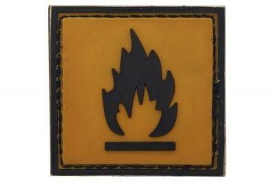 "101 Inc PVC Velcro Patch ""Flammable"""