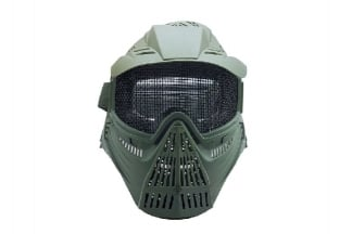 Pirate Arms Commander Mesh Full Face Mask (Olive)