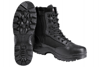 Mil-Com Recon Side Zip Boot (Black) - Size 4