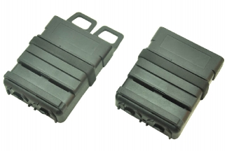 FMA MOLLE M4 Fast Magazine Pouch - Set of 2 (Black)