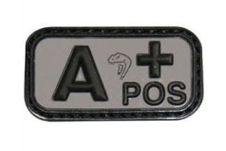 Viper Velcro PVC Blood Group Patch A+ (Black)