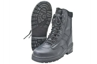 Mil-Com All Leather Patrol Boots (Black) - Size 8