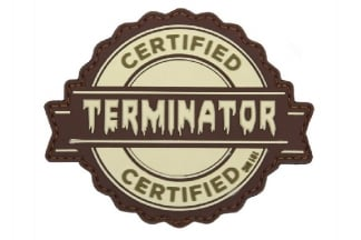 "101 Inc PVC Velcro Patch ""Certified Terminator"""