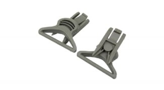 FMA Helmet Swivel Clips for Goggle & Mask Straps (Grey)