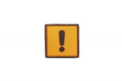 """101 Inc PVC Velcro Patch """"Caution"""""""