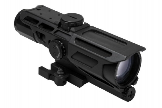 NCS 3-9x40 Scope with Blue/Red Illuminating P4 Sniper Reticle & QD Mount