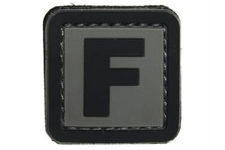 "101 Inc PVC Velcro Patch ""F"""