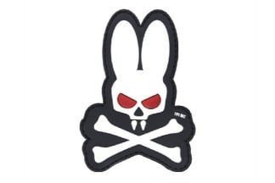 "101 Inc PVC Velcro Patch ""Skull Bunny"" (White)"