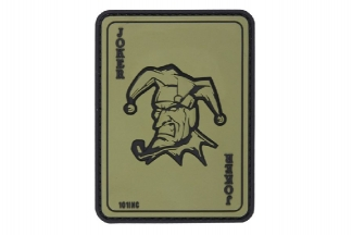 "101 Inc PVC Velcro Patch ""Joker"" (Olive)"