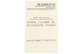 U.S Army M1911A1 Technical Manual