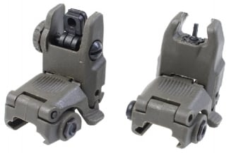 101 Inc BUS Flip-Up Sight Set (Olive)