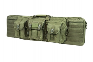 "NCS VISM MOLLE Double Rifle Case 42"" with Side Pouches (Olive)"