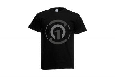 Daft Donkey T-Shirt 'Subdued Zero One Logo' (Black) - Size Medium