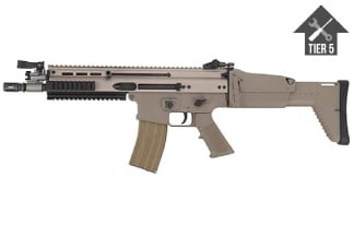 WE GBB SCAR-L (Tan) with Tier 5 Upgrades (Bundle)