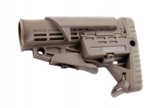 CAA M4 Retractable Stock with Adjustable Cheek Piece (Dark Earth)