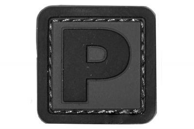 """101 Inc PVC Velcro Patch """"P"""""""