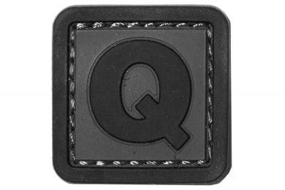 """101 Inc PVC Velcro Patch """"Q"""""""