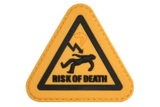 "Viper Velcro PVC Morale Patch ""Risk Of Death"""