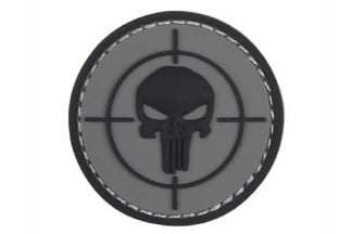 "101 Inc PVC Velcro Patch ""Punisher Sight"" (Grey)"