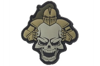 "101 Inc PVC Velcro Patch ""Knight"" (Tan)"
