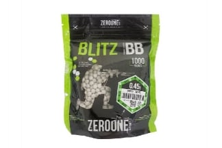 Zero One Blitz Bio BB 0.45g 1000rds (White) - NEW