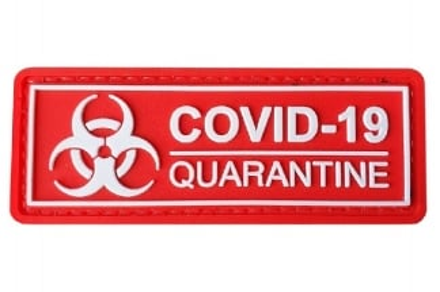 EB PVC Velcro Patch 'Covid-19 Quarantine'
