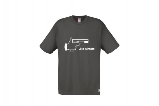 Daft Donkey T-Shirt 'Like Airsoft' (Grey) - Size Extra Large