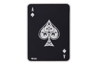 "101 Inc PVC Velcro Patch ""Ace of Spades"" (Black)"