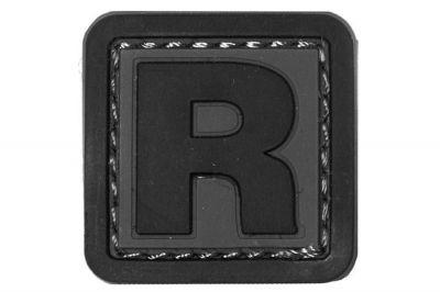 """101 Inc PVC Velcro Patch """"R"""""""
