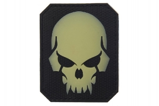 "101 Inc PVC Velcro ""Pirate Skull"" Glow In The Dark Patch (Black)"