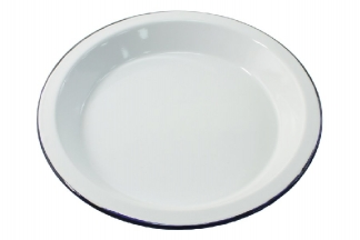 Highlander Traditional Enamel Deep Plate (White)