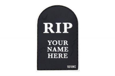 "101 Inc PVC Velcro Patch ""RIP"" (Black)"