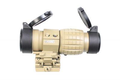 Zero One 3x Flip Magnifier (Tan)
