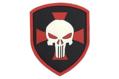 "101 Inc PVC Velcro Patch ""Punisher Shield"""