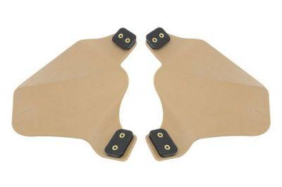 FMA Ear Protectors for Helmet Rail (Dark Earth)