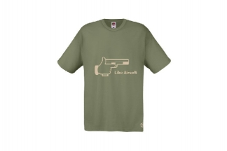 Daft Donkey T-Shirt 'Subdued Like Airsoft' (Olive) - Size Small