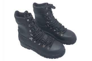 Highlander Waterproof Leather Elite Forces Boots (Black) - Size 8