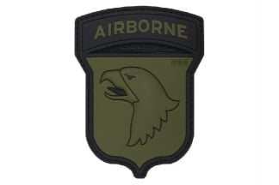 "101 Inc PVC Velcro Patch ""101st Airborne"" (Olive)"