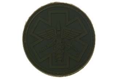 "101 Inc PVC Velcro Patch ""Paramedic"" (Olive)"