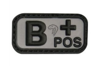 Viper Velcro PVC Blood Group Patch B+ (Black)