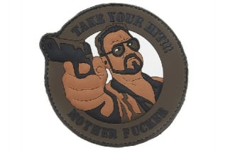 "101 Inc PVC Velcro Patch ""Take Your Hit"" (Brown)"