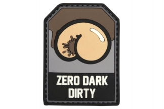 "101 Inc PVC Velcro Patch ""Zero Dark Dirty"""