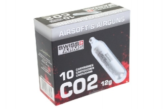 Swiss Arms 12g CO2 Capsule Pack of 10