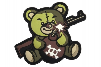 "101 Inc PVC Velcro Patch ""Terror Teddy"" (Olive)"