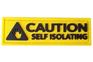 EB PVC Velcro Patch 'Caution Self Isolating'