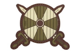 "101 Inc PVC Velcro Patch ""Viking Shield & Swords"" (Olive)"