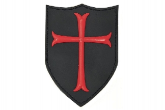 "101 Inc PVC Velcro Patch ""Crusader"""